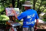1 - Artist Bill Ternay at work.