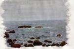 """Monhegan Rocks"" by Fred Danziger"